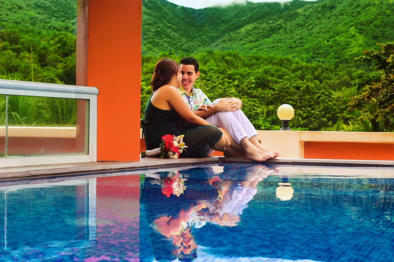 piscine en couple